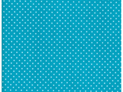 Beschichtete Baumwolle Punkte auf Türkis 50x67 cm