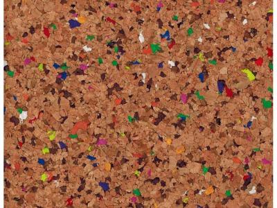 Korkstoff mit bunten Anteilen- Stueck 50 x 65 cm - Wunderschoenes Naturmaterial