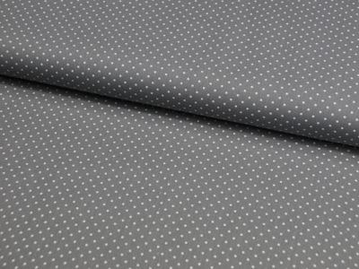 Petit Dots auf Grau - Baumwolle 0,5 m