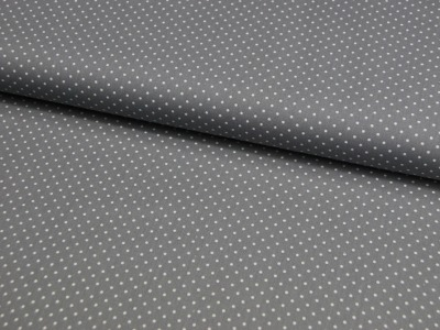 Petit Dots auf Grau - Baumwolle