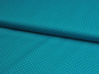 Petit Dots auf Türkis - Baumwolle 0,5 m