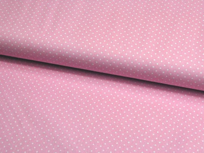 Petit Dots auf blasses Rosa Baumwolle