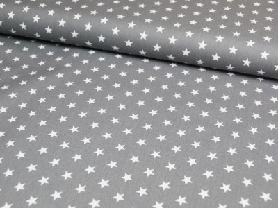 Petit Stars - Sterne auf Grau - Baumwolle 0,5m