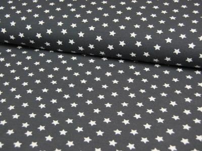 Jersey - Weiße Sterne auf Dunkelgrau 0,5 m