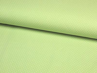 JERSEY Frühlingsgrün mit weißen Minipunkten 0,5 m