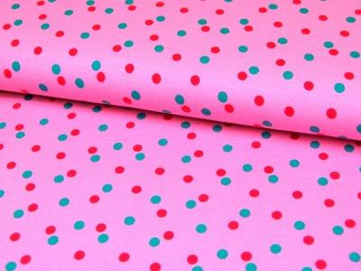 JERSEY - Türkis-Pinke Punkte auf Rosa - 0,5m