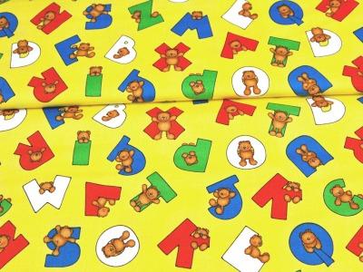 Alpha Bears - Buchstaben und Bären Baumwolle 0,5m