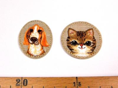 Aufbügler Set: Hund Katze Zwei Aufbügler