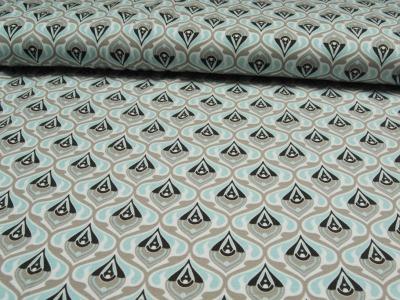 JERSEY - Graphisches Muster 70ziger Look - 0 5m