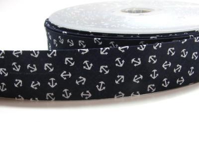 1 m dunkelblaues Schraegband mit Ankern 3cm breit
