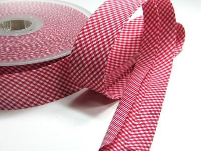 Schraegband - 1 Meter - 3cm breit - Minikaro - 3 cm breites Schraegband
