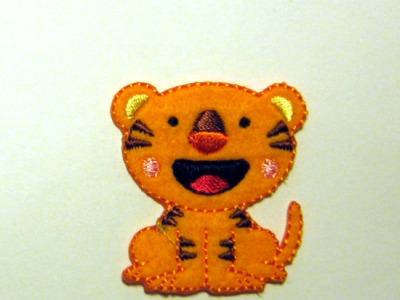 Aufbügler Kleiner Tiger - Kleiner Hingucker.