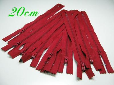 10 x 20cm dunkelrote Reißverschlüsse - 10 Reißverschlüße im Setsonderpreis