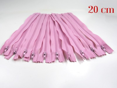 10 x 20cm rosa Reißverschlüsse - 10 Reißverschlüße im Setsonderpreis