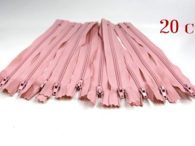 10 x 20cm blass altrosa Reißverschlüsse - 10 Reißverschlüße im Setsonderpreis