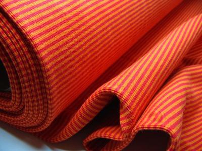 Buendchen Rot-Orange 25cm im Schlauch - Gestreiftes festes Buendchen