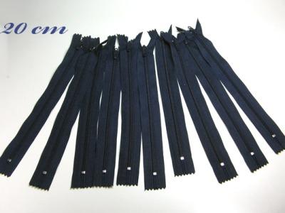 10 x 20cm nachtblaue Reißverschlüsse - 10 Reißverschlüße im Setsonderpreis