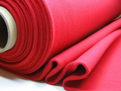 Buendchen Uni Rot 25cm im Schlauch - Einfarbig festes Buendchen