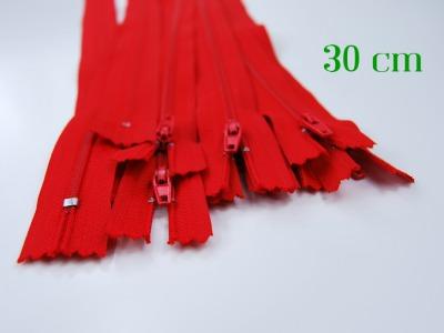 10 x 30 cm kirschrote Reißverschlüsse - 10 Reißverschlüsse zum Setsonderpreis