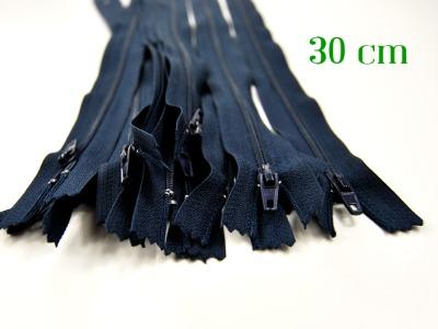 10 x 30cm nachtblaue Reißverschlüsse - 10 Reißverschlüsse zum Setsonderpreis