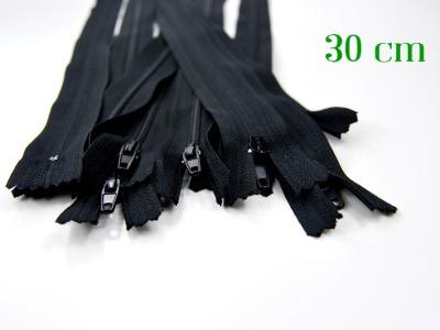 10 x 30cm schwarze Reißverschlüsse - 10 Reißverschlüsse zum Setsonderpreis