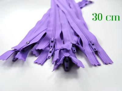 10 x 30cm fliederfarbene Reißverschlüsse - 10 Reißverschlüsse zum Setsonderpreis