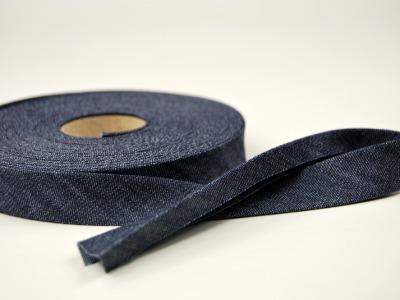 Schraegband 1 Meter Jeans - 2 cm breites Schraegband