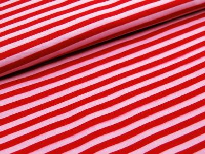 Rot-Rosa gestreifter Feincord 0,5 Meter