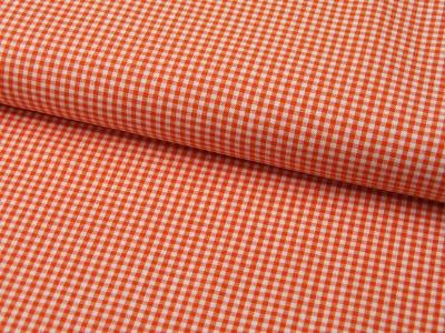 kleines Karo Orange - Baumwolle 05