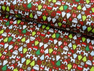 north pole ditsy Weihnachtliche Baumwolle 0,5m