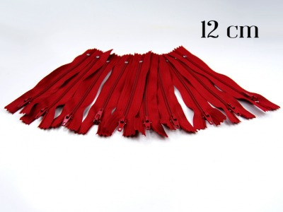 10 x 12cm dunkelrote Reißverschlüsse - 10 Reißverschlüße im Setsonderpreis