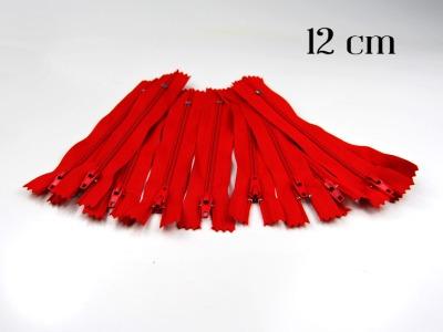 10 x 12cm kirschrote Reißverschlüsse - 10 Reißverschlüße im Setsonderpreis