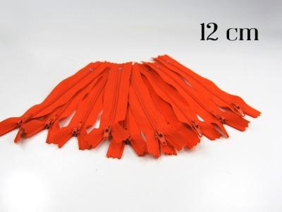 10 x 12cm orangene Reißverschlüsse - 10 Reißverschlüße im Setsonderpreis