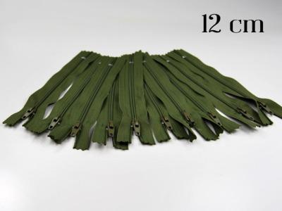 10 x 12cm moosgrüne Reißverschlüsse - 10 Reißverschlüße im Setsonderpreis