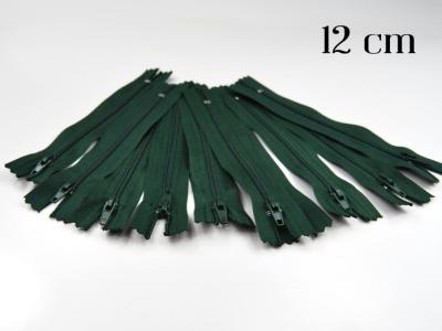 10 x 12cm waldgrüne Reißverschlüsse - 10 Reißverschlüße im Setsonderpreis