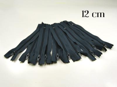 10 x 12cm blaugraue Reißverschlüsse - 10 Reißverschlüße im Setsonderpreis