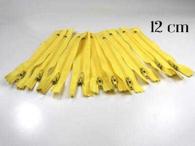 10 x 12cm vanillefarbene Reißverschlüsse - 10 Reißverschlüße im Setsonderpreis