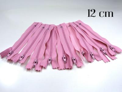 10 x 12cm rosa Reißverschlüsse - 10 Reißverschlüße im Setsonderpreis