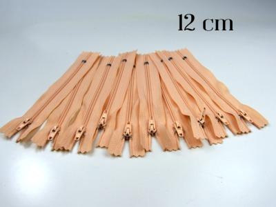 10 x 12cm apricotfarbene Reißverschlüsse - 10 Reißverschlüße im Setsonderpreis