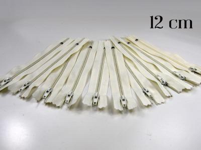10 x 12cm cremeweiße Reißverschlüsse - 10 Reißverschlüße im Setsonderpreis