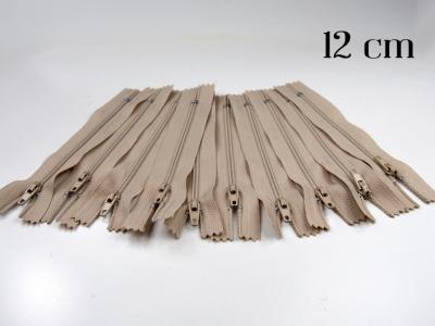 10 x 12cm hellbeige Reißverschlüsse - 10 Reißverschlüße im Setsonderpreis