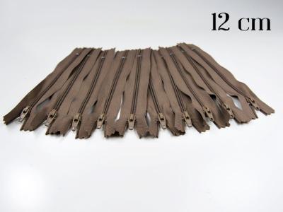 10 x 12cm milchkaffeefarbene Reißverschlüsse - 10 Reißverschlüße im Setsonderpreis