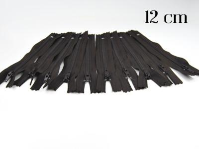 10 x 12cm schokobraune Reißverschlüsse - 10 Reißverschlüße im Setsonderpreis