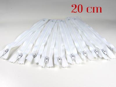 10 x 20cm weiße Reißverschlüsse - 10 Reißverschlüße im Setsonderpreis