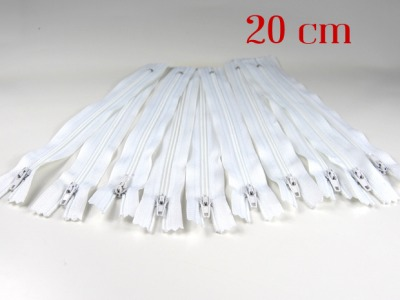 20cm weiße Reißverschlüsse Reißverschlüße im Setsonderpreis