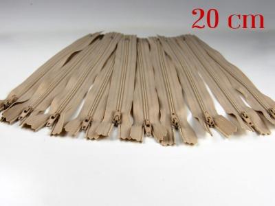 10 x 20cm hellbeige Reißverschlüsse - 10 Reißverschlüße im Setsonderpreis