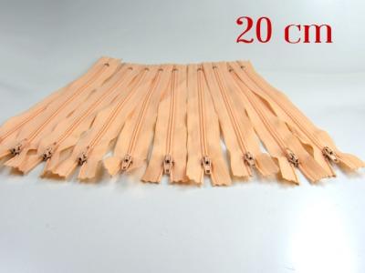 10 x 20cm apricotfarbene Reißverschlüsse - 10 Reißverschlüße im Setsonderpreis
