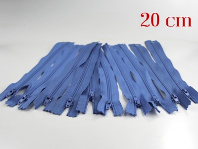 10 x 20cm hellblaue Reißverschlüsse - 10 Reißverschlüße im Setsonderpreis