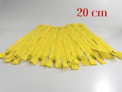 10 x 20cm zitronengelbe Reißverschlüsse - 10 Reißverschlüße im Setsonderpreis