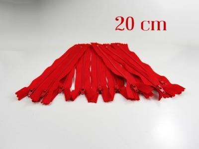 10 x 20cm kirschrote Reißverschlüsse - 10 Reißverschlüße im Setsonderpreis